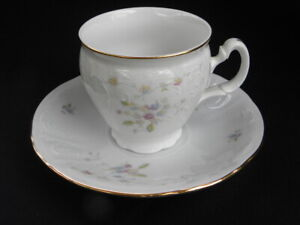 Vintage-Boscov-s-European-Collection-China-Petite-Fleur-Pattern-Cup-and-Saucer