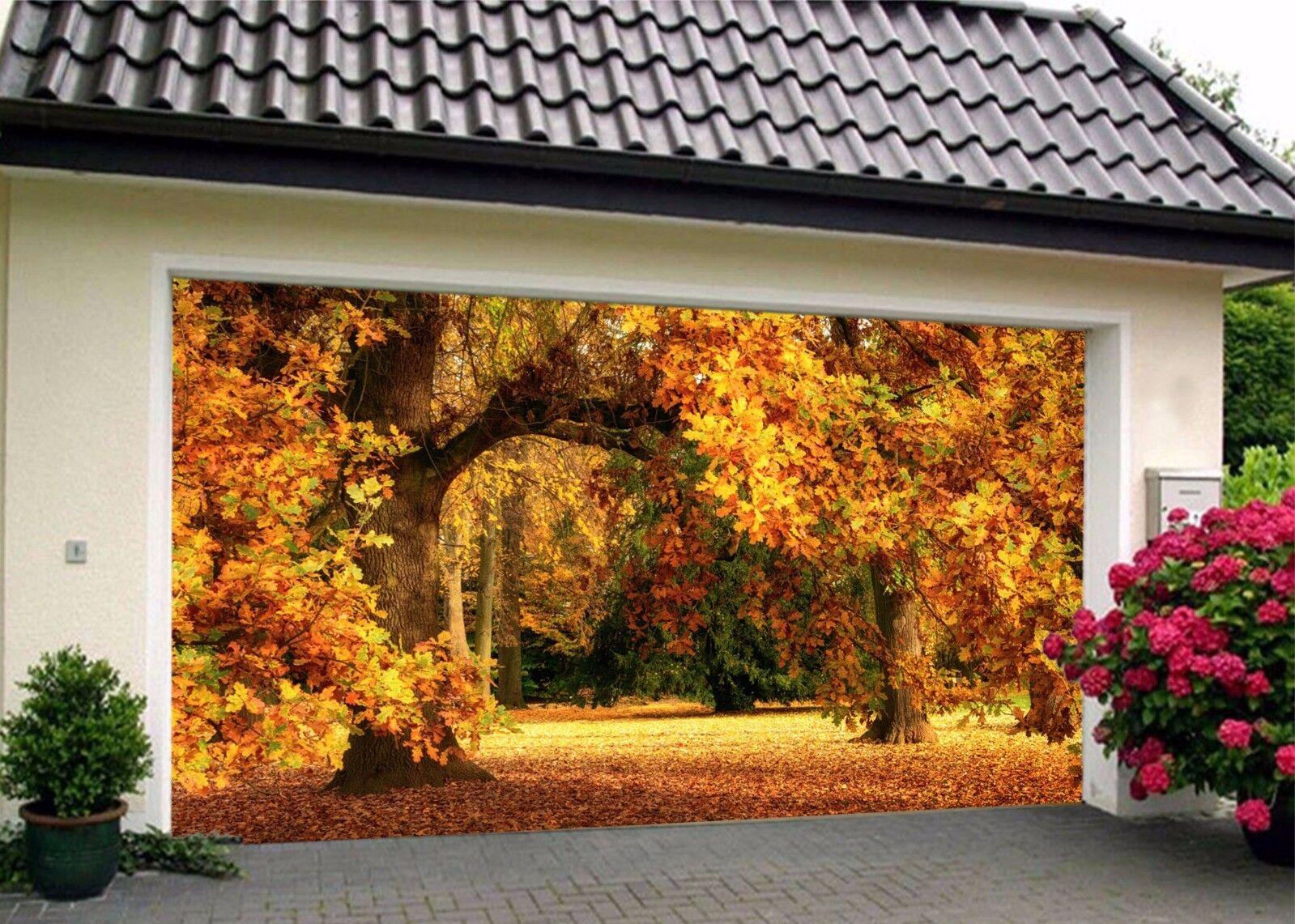 3D Gelb woods Garage Door Murals Wall Print Decal Wall Deco AJ WALLPAPER A