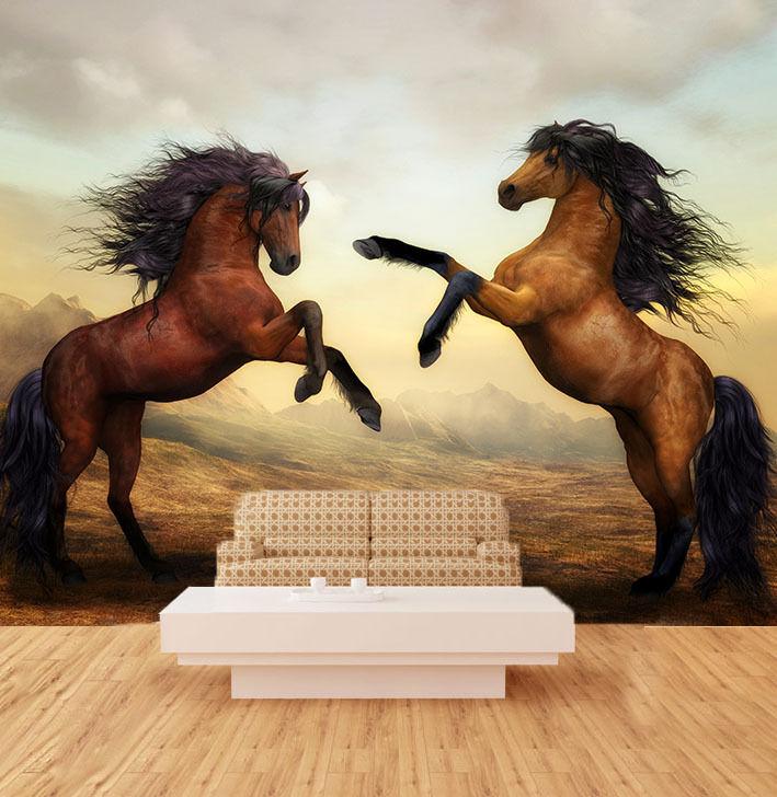 3D Running Horse Paper Wall Print Decal Wall Wall Murals AJ WALLPAPER GB