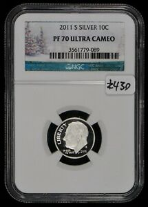 2011-S-10c-Silver-Roosevelt-Dime-High-Grade-Proof-Coin-NGC-PF-70-UC-Lot-Z430