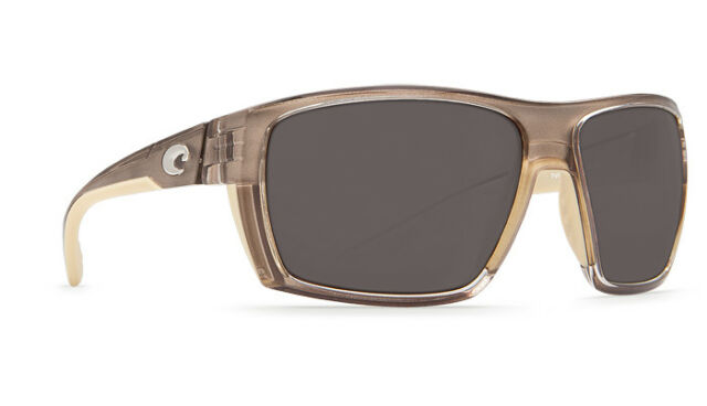 78f10563914 Costa Del Mar Hamlin Crystal Bronze Frame Gray 580p Lens Sunglasses ...