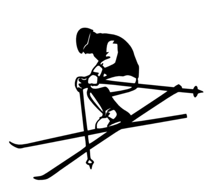 Schifahrer Aufkleber Skifahrer 10 15 20 25 cm Alpin carving ski Autoaufkleber 45
