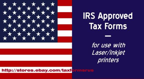 2016 IRS Tax Form 1099-MISC single sheet set for 2 recipients 4-pt laser #TF6103