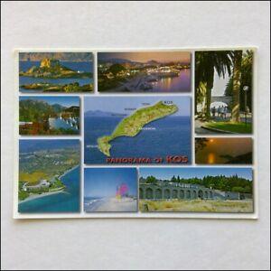 Panorama-Of-Kos-Greece-9-Views-2002-Postcard-P397