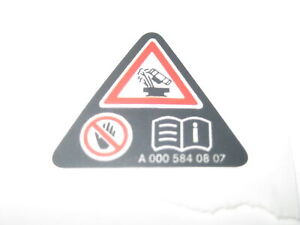 Mercedes-Expansion-Tank-Hazard-Warning-Label-Sticker-A0005840807