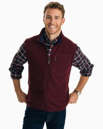 Southern Tide Men/'s Samson Peak Sweater Fleece Full Zip Vest 3123 Size Medium