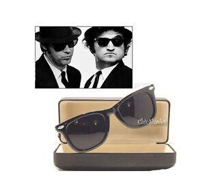New-Soul-Man-Blues-Brothers-Wayfarer-Super-Dark-Lens-Celebrity-Sunglasses-Retro