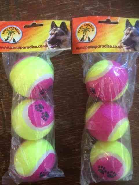 25 packs of 3 Dog Toy Tennis Balls