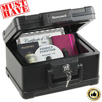 Fire Safe Lock Box Fireproof Security Case Chest Storage Portable Key Documents
