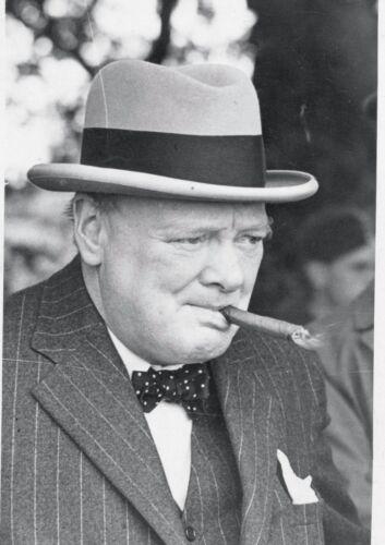 CANVAS Winston Churchill Smoking Cigar Art Print Poster