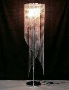 Image Is Loading Modern Crystal Floor Lamp Contemporary Raindrop Light Designer