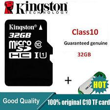 Kingston MicroSDHC Card 32GB TF Flash Memory Card With Adapter Class10 U1C10