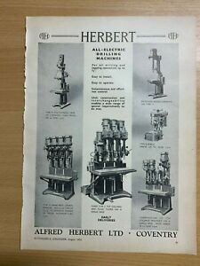 1954-Alfred-Herbert-Coventry-All-Electric-Forage-Machines-Vintage-Annonce