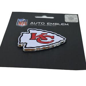 New-NFL-Kansas-City-Chiefs-Auto-Car-Truck-Heavy-Duty-Metal-Color-Emblem