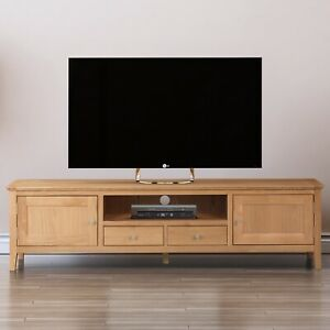 Long Oak Tv Stand Low Media Cabinet