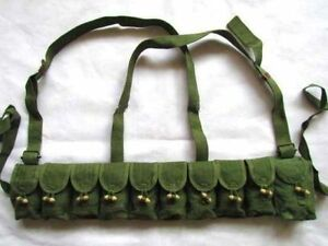 ORIGINAL-CHINESE-MILITARY-SKS-TYPE-56-SEMI-AMMO-CHEST-RIG-BANDOLIER-POUCH