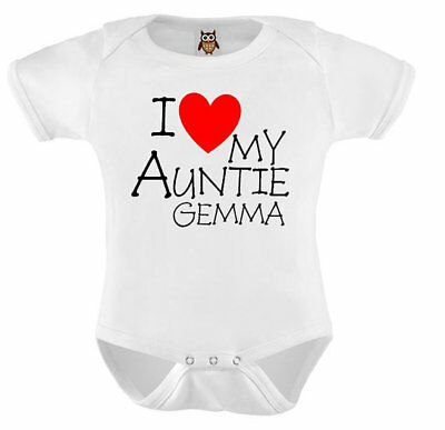 Personalised Baby Vest My Mums Friend Thinks I Am Awesome Bodysuit Gift Present