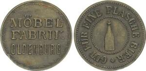 1920 Token Coin Der Factory Oldenburg Vf-Xf 51576