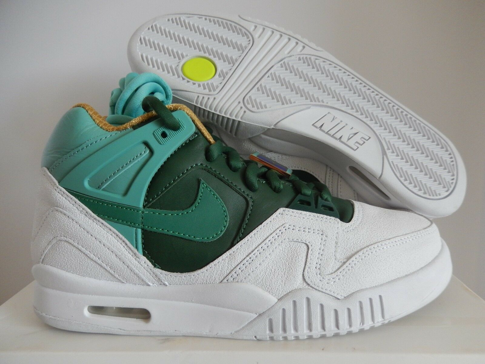 NIKE AIR TECH CHALLENGE II 2 SP TENNIS WHITE-JADE GLAZE-GREEN Price reduction The latest discount shoes for men and women