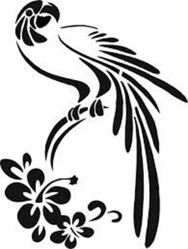 A4 Parrot Macaw /& Flower 190 micron Mylar Stencil durable /& sturdy A3 A5