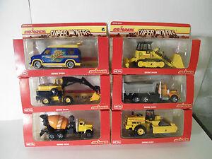 Baufahrzeuge versch.Modelle Bagger,Kipper,<wbr/>Betonmischer, Walze  Majorette 80er J.