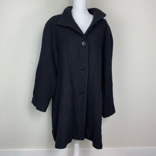 SANDRO black trench coat wool size 20