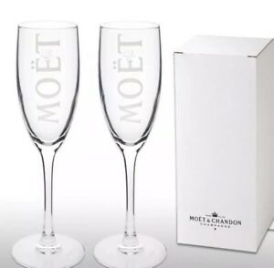 2-X-Boxed-Moet-Chandon-Champagne-Glass-Flutes-New