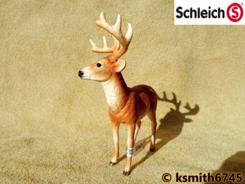 Schleich White Tail DEER STAG Jouet en plastique Wild Zoo Woodland Animal Buck New