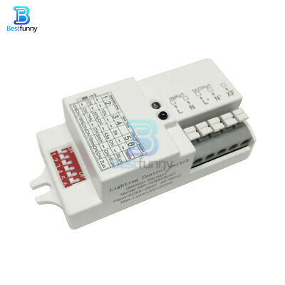 AC 110-220V Microwave Radar Sensor Switch Body Motion Detector for LED Light