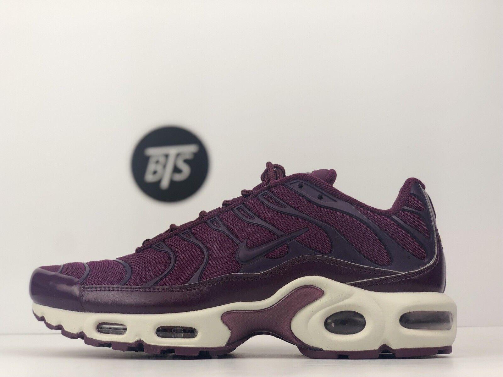 "Women's Nike Air Max Plus TN ""Purple"" Size-8.5 Bordeaux Summit White AV7912 600"