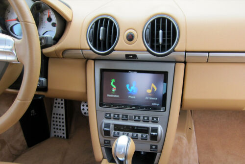 NEW WITHOUT BOSE SYSTEM PORSCHE 987 CAYMAN CUSTOM DOUBLE DIN INSTALLATION KIT