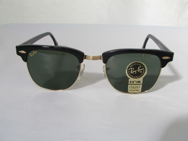 New Vintage B L Ray Ban Clubmaster Wayfarer Set Black W0365 49mm Sunglasses  USA 1cd6993b1