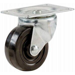 Shepherd Hardware 9478 2-1/2-Inch Soft Rubber Swivel Plate Caster, 100-lb Load C