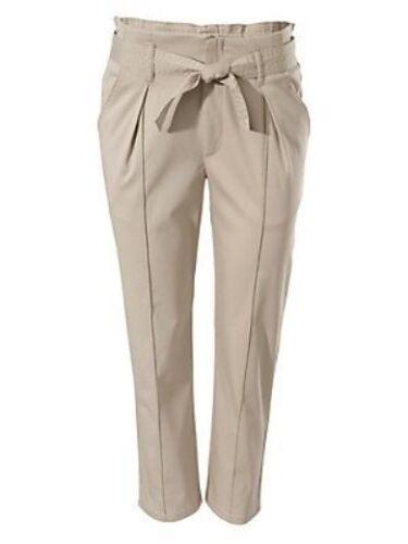Damen Bundfaltenhose Capri 3//4 Hose Bindeband Falten Stretch B.C
