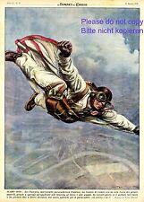 Wingsuit Base Jumper XL art print 1950 !!! Leo Valentin parachute skydiving