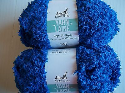 49 yds ea Tangerine Needle Crafters Glitter Brilliants eyelash yarn lot of 2