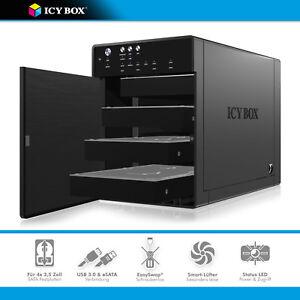 ICY-BOX-IB-3640SU3-4-fach-Single-Gehaeuse-4x-3-5-034-SATA-Festplatten-USB3-0-eSATA