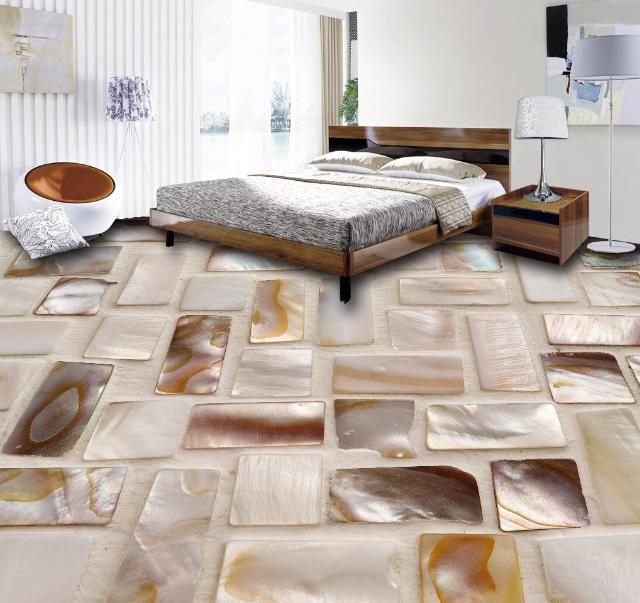 3D Exquisite Shell Tile 744 Floor WallPaper Murals Wall Print Decal AJ WALLPAPER