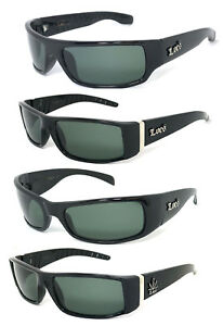 Locs Authentic Cholo Biker Motorcycle Sunglasses OG Style Shiny Black Frame