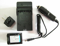 Battery + Charger For Samsung Hmx-f80 Hmx-f90 Hmx-f800 Hmx-f900 Camcorder