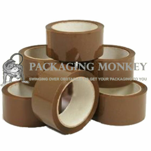 1 x Roll Of Strong Brown Packing Parcel Tape 48mm x 66M