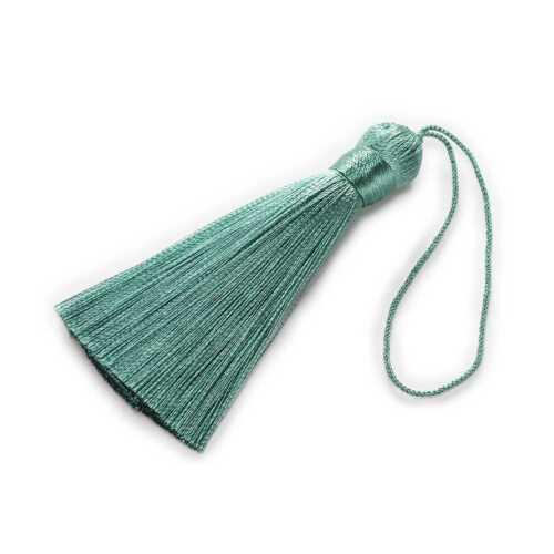2 Pcs Silk Tassels Tassel Fringe Jewelry Making DIY Accessories Findings 8cm
