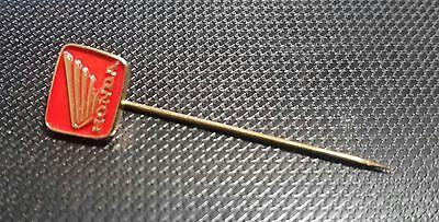 Honda Anstecknadel Motorrad golden-rot mit Schriftzug 11x10mm