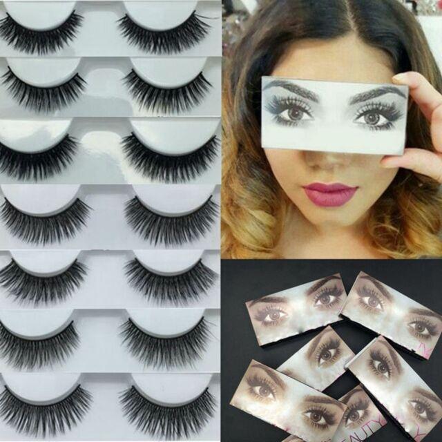 3D 100% Real Mink Pro Beauty Makeup Handmade Thick Natural False EyeLashes