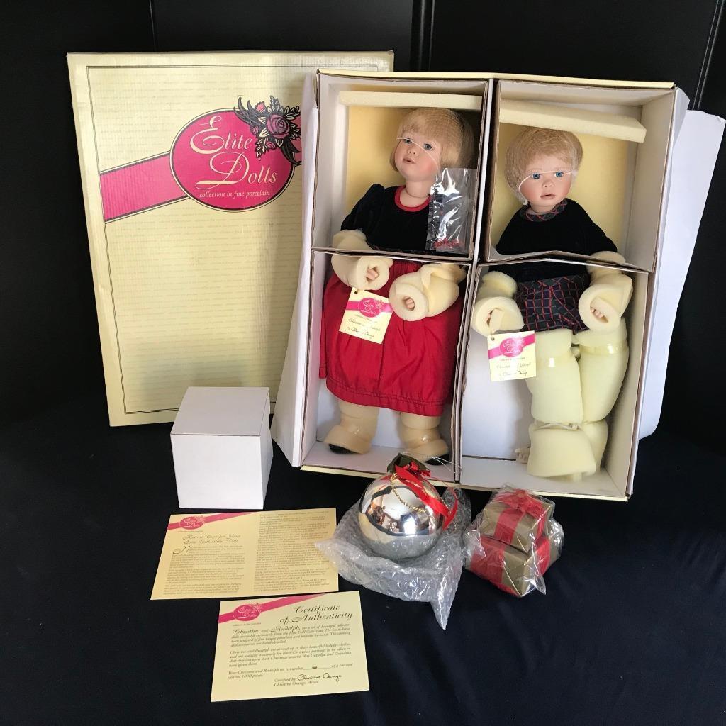 Elite Dolls Porcelain 17  CHRISTINE RUDOLPH by Christine arancia COA 140 1000 NIB