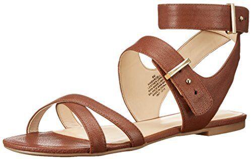 Nine West Damenschuhe Darcelle Leder Dress Sandale- Select SZ/Farbe.