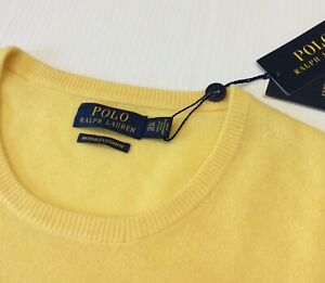 Polo Ralph Lauren 100% Cashmere Ultrasoft Luxury Pullover Washable Knit Sweater
