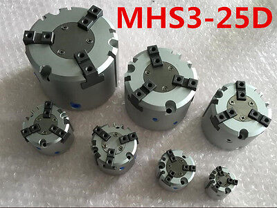 SMC tipo MHS3-25D Dedo Doble Acción Neumática 3 Dedos Pinza Cilindro de aire