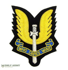 British-Army-SAS-Special-Air-Service-Cloth-Badge-Wire-Bullion-Embroidered-Badge