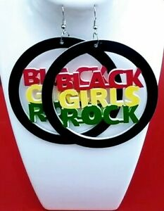 Black-Girls-Rock-Wooden-multicolored-round-dangleEarrings